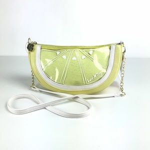 Betsey Johnson Crossbody Purse Lemon Lime Clutch